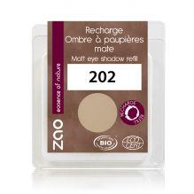 Recharge fard à paupières mat - brun beige - 202 - 3 g