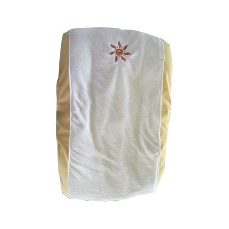 Housse pour coussin à langer en coton Soleil bords jaunes