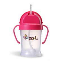 Gobelet avec paille  Sans BPA ni phtalate Rose - 180 ml