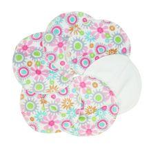 Coussinets d'allaitement en Coton BIO - Fleurs - lot de 6