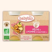 Pêche et pomme d'Aquitaine (dès 4 mois) - 2 x 130 g