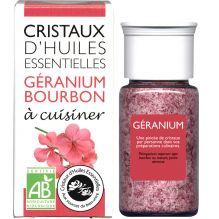 Cristaux d'huiles essentielles à cuisiner - géranium - 10 g