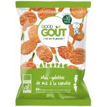 Mini-galette de riz à la carotte - 40g - à partir de 10 mois