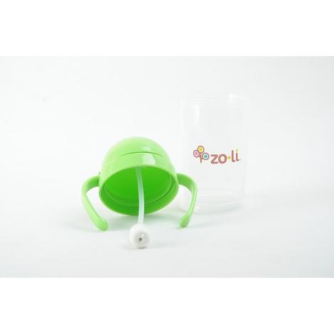Gobelet avec paille  Sans BPA ni phtalate Vert - 270 ml