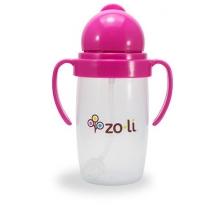 Gobelet avec paille lestée  Sans BPA ni phtalate Rose - 295 ml