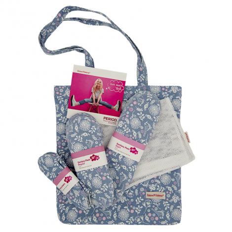 Kit de départ pour période menstruelle. Serviettes hygiéniques lavables en coton BIO - Garden