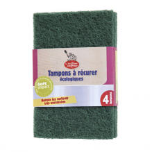 Lot de 4 tampons grattants verts