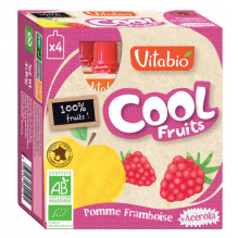 Cool Fruits - Pomme Framboise - Lot de 4 Gourdes