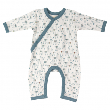 Pyjama blanc en coton BIO - Lamas