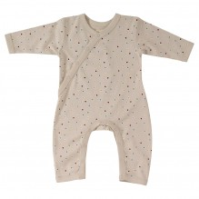 Pyjama taupe à pois en coton BIO