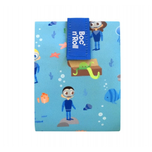 Pochette sandwich lavable et réutilisable Boc'n'Roll - Kid Blue