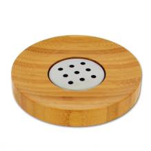 Porte savon rond en bambou