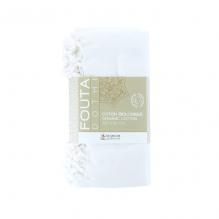 Foutas Dhoti en coton Bio Blanc 100 x 50 cm