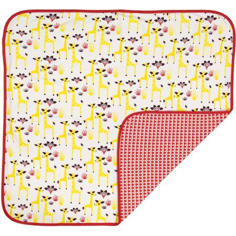 """Couverture bébé en coton BIO """"Girafe"""""""