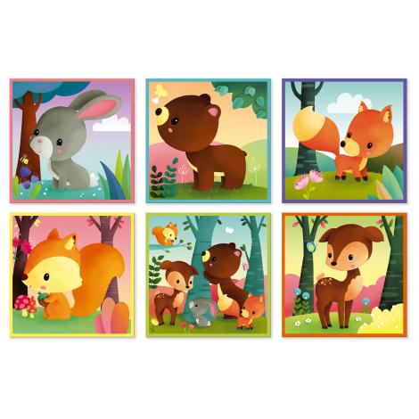 9 cubes forêt à partir de 2 ans