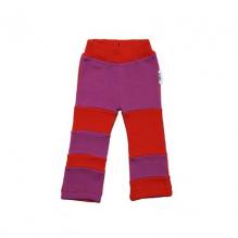 Pantalon en laine Patchwork - Coquelicot / Lotus