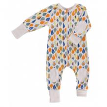 Pyjama / combi en coton 100% BIO certifié GOTS - Feuilles