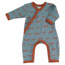 Pyjama bleu longues manches en coton BIO - renards