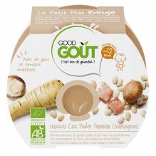 Haricots, coco, pouletfermeir et champignons - 220 g - à partir de 12 mois