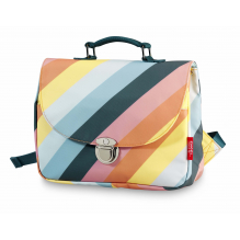 Cartable small Stripe Rainbow