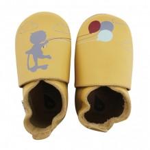 chaussons enfant soft sole 'fall leaf balloon on a string'