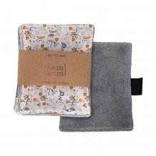 Lingette bébé en coton et bambou - 12 x 15 cm - Lot de 6 - Fleurs
