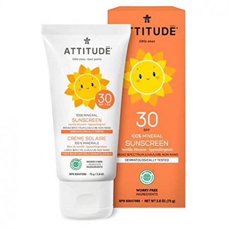 Tout-petits : crème solaire 100 % minérale SPF 30 - fleur de vanille - 75 g