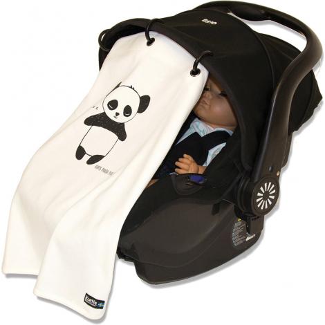 Couverture anti UV pour poussettes et sièges bébé - Panda