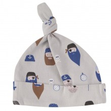 Bonnet en coton BIO - Pirates gris