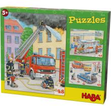 Puzzles Véhicules d'intervention - lot de 3 puzzles - à partir de 5 ans