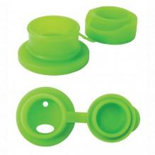 Bouchon sport en silicone pour bouteille en inox Pura - Vert