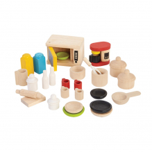 Meubles en bois pour maisons de poupées - Accessoires pour cuisine - à partir de 3 ans