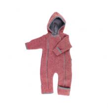 Combinaison intéfrale en polaire de laine pour bébé - Vintage Red