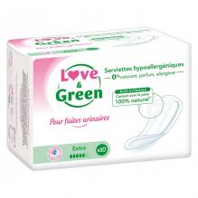 Serviettes fuites urinaires - Extra - 10 pièces