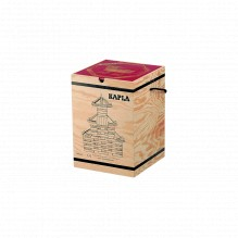 Mallette en bois avec 280 kaplas + 1 livre d'art rouge - à partir de 6 ans