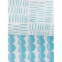 Housse de couette enfant 100 x 140 cm + 1 taie 40 x 60 cm Coton Bio - Galets bleus