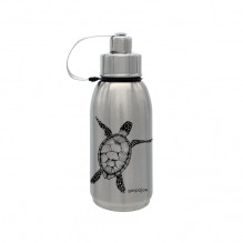 Gourde isotherme Friendly inox - Tortue noire - 700 ml