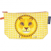 Trousse à soufflets en coton Bio - Love Cats - Lion