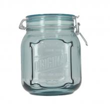 Pot hermétique en verre recyclé - 1,1 L