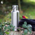 Gourde Isotherme Groovy Inox - gravure Cerisier - 750 ml
