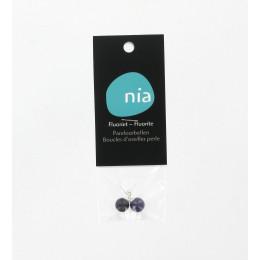 Boucles d'oreilles perle Fluorite