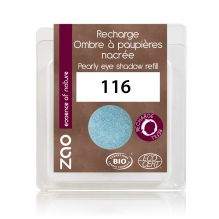 Recharge fard à paupières nacré - bleu canard - 116 - 3 g *