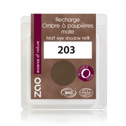 Recharge fard à paupières mat - brun foncé - 203 - 3 g