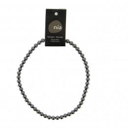 Collier perle 46 cm Hématite
