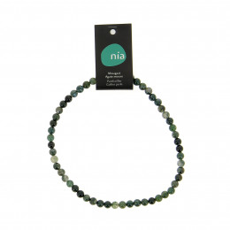 Collier perle 40 cm Agate mousse