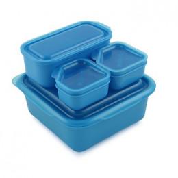 Boîtes alimentaires Portions On The Go 4 récipients avec couvercles