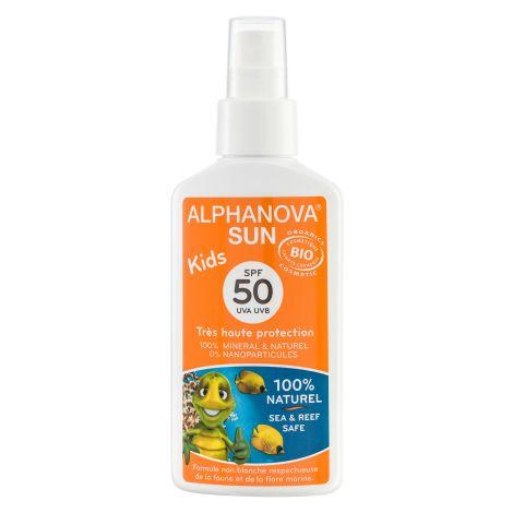 Lait solaire Kids Bio Très haute protection SPF 50 + Spray 125 g