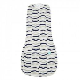 Cocon d'emmaillotage et sac de couchage (seconde peau)  - Navy Arrow - 0-3 mois
