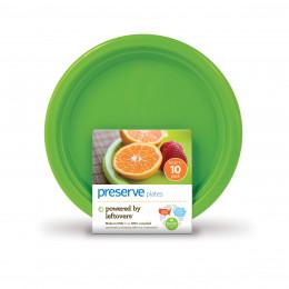 10 petites assiettes matériaux recyclés - 17 cm