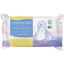 Lingettes bébé humides en coton bio - 50 lingettes
